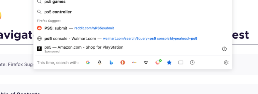 PS5 showing up as a sponsored result.