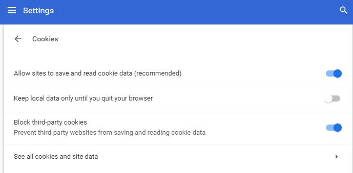 Cookies Chrome