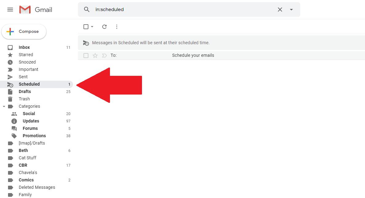 scheduled email