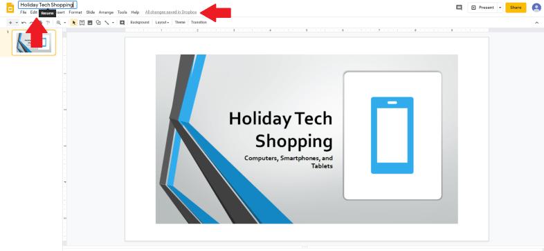 Crear una presentación de diapositivas de Google