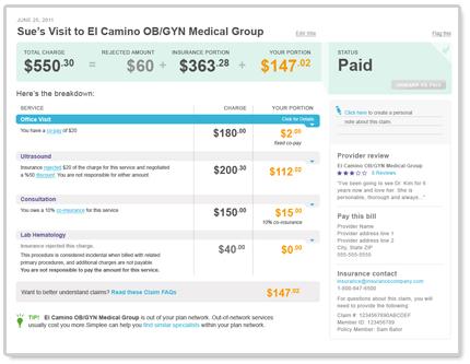 Медицинские счета