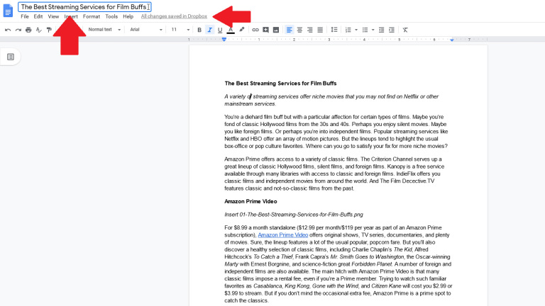 Crea un documento de Google