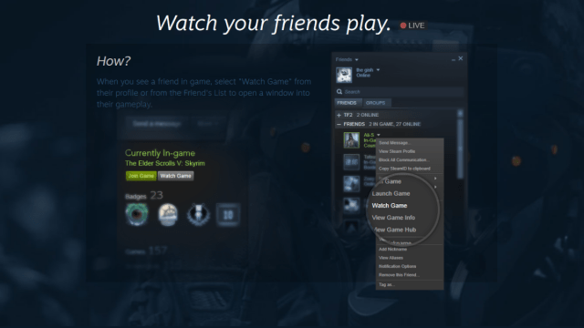 Watch Steam Broadcasts PC Gaming