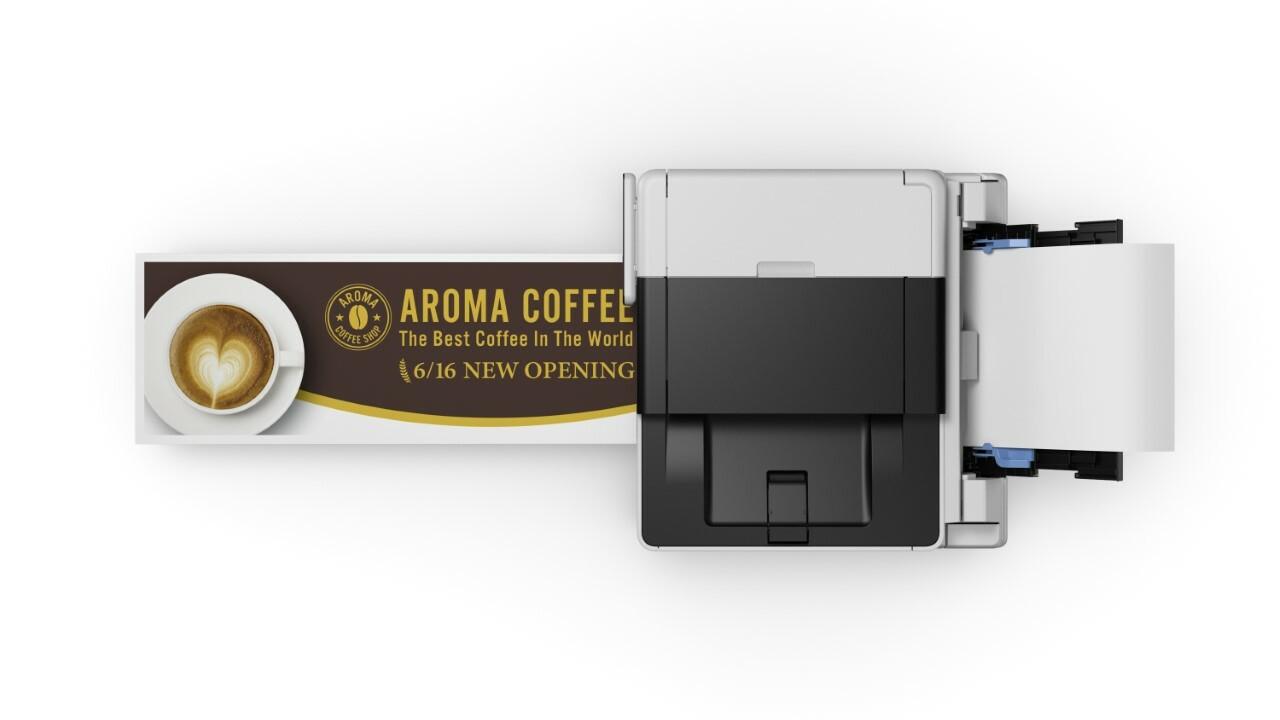 GX7020 может печатать на бумаге нестандартных размеров размером до 5 на 47 дюймов.