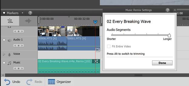 Audio editing in Adobe Premiere Elements