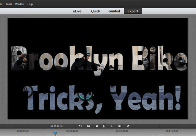 Title masking in Adobe Premiere Elements