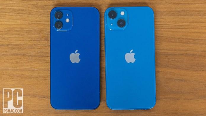 iPhone 12 vs 13 back