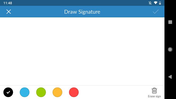 Fax.Plus draw signature