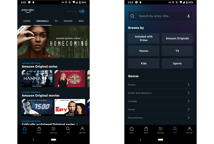 Prime Video Android app