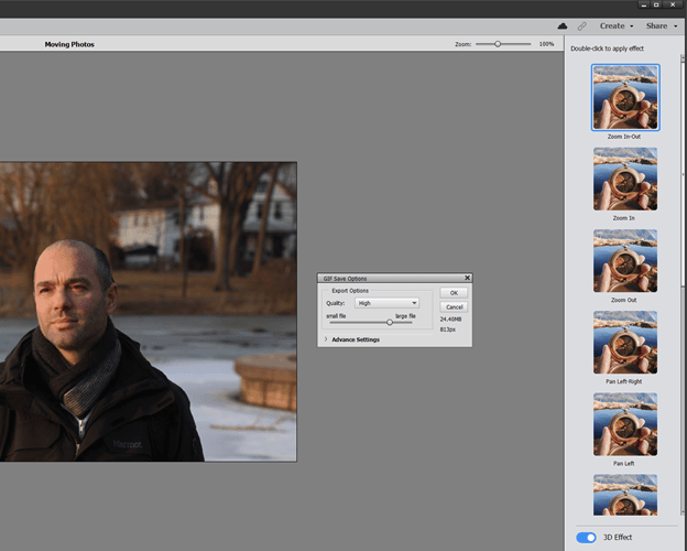 Moving Pictures in Adobe Photoshop Elements