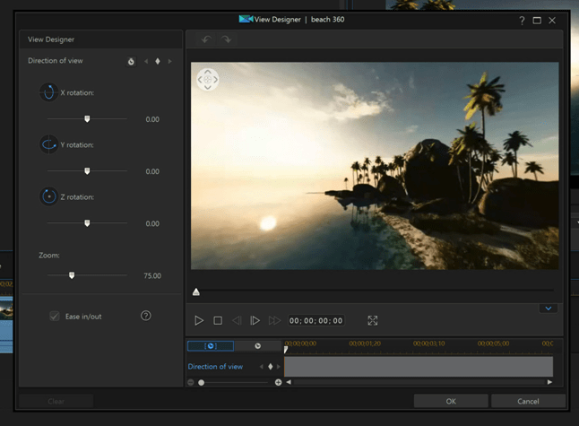 360 degree editing inCyberLink PowerDirector