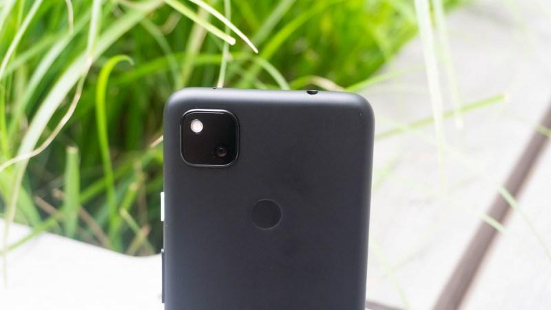Pixel 4a camera stack close up