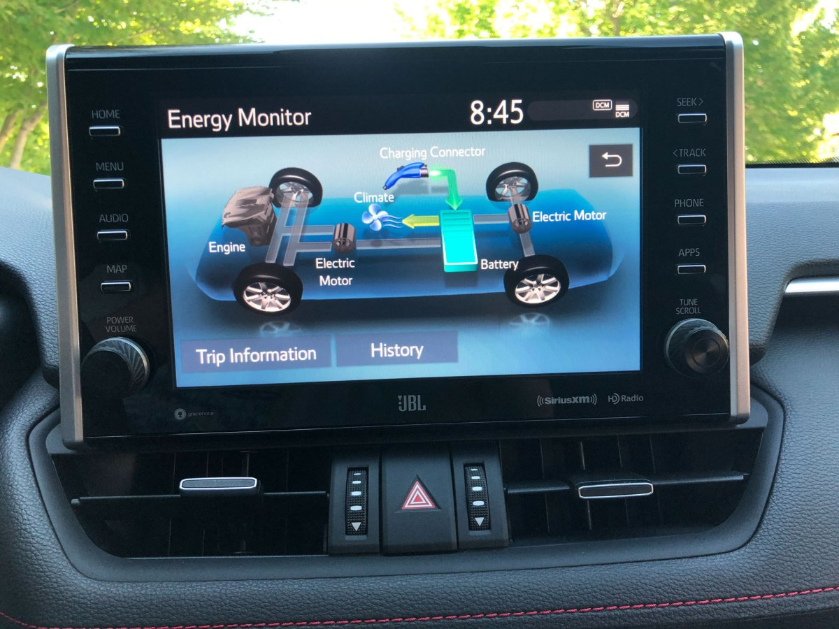 2021 Toyota RAV4 Prime infotainment screen