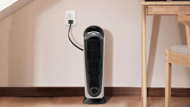 Treatlife Smart Plug plugged into fan