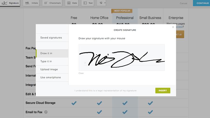 HelloFax Signature Tool
