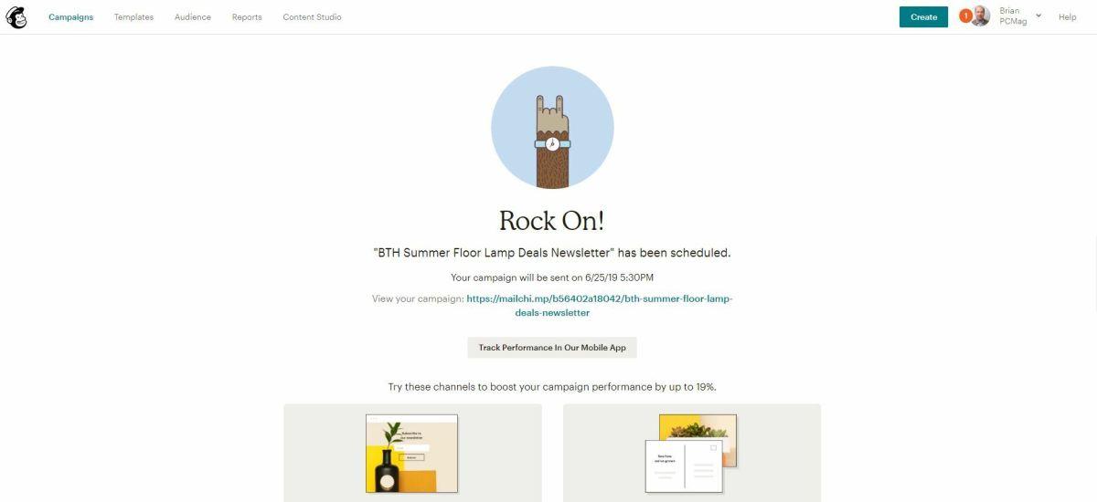 Mailchimp 2020 Campaign Performance