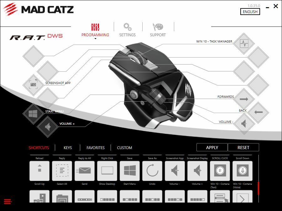 Программное приложение RAT DWS
