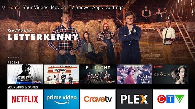Amazon Fire Stick home screen