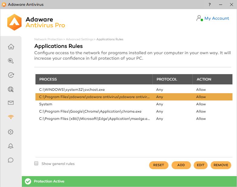 Adaware Antivirus Pro Firewall Manage Apps