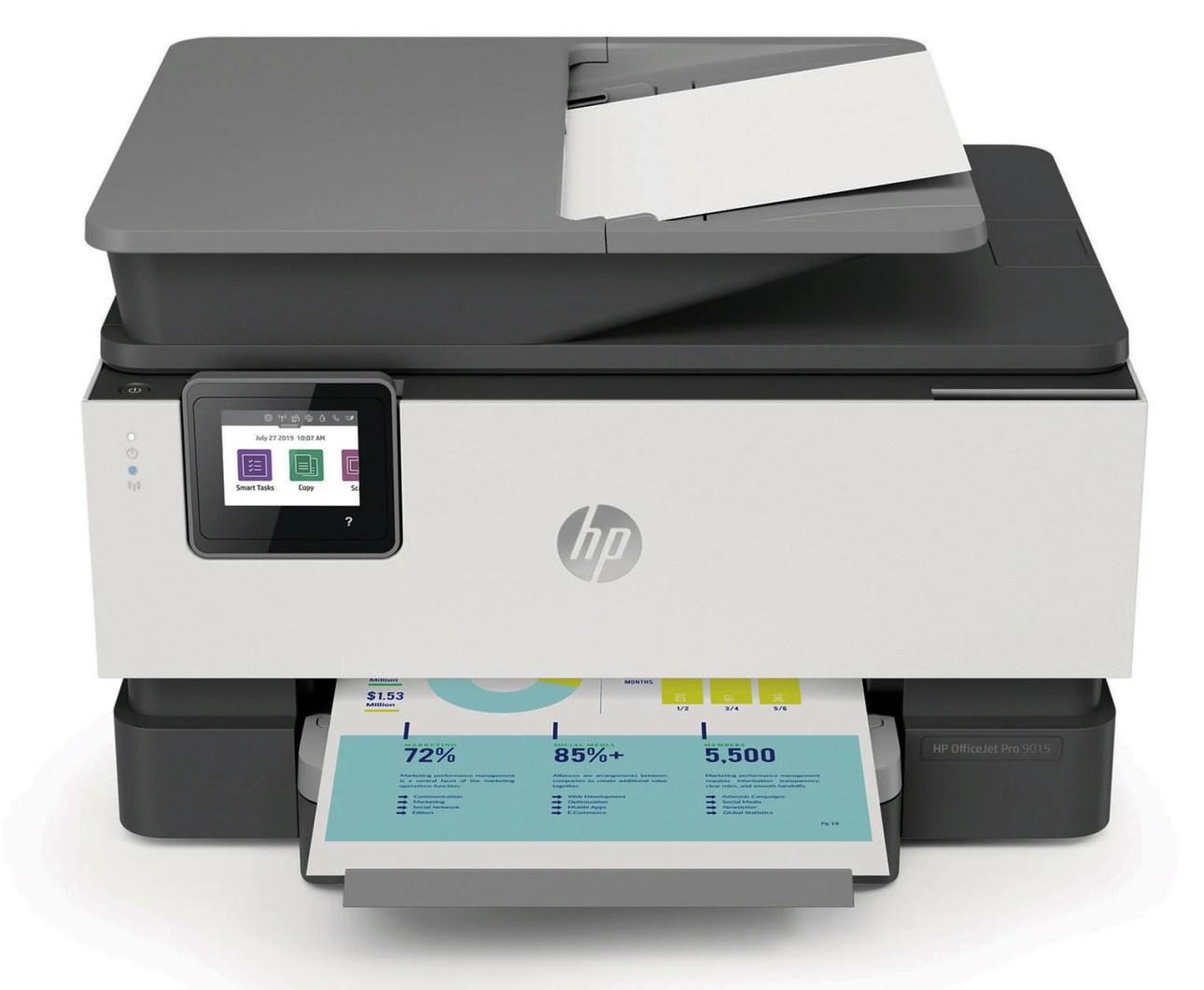 Печать HP OfficeJet Pro 9015e