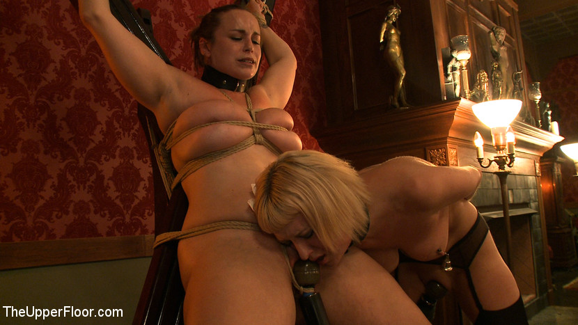 Slave girls get their pussies and assholes punished hard