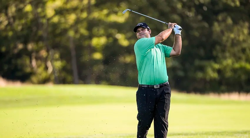 Patrick Reed's 5-under 66 in Round 1 of The Barclays was good enough for a share of the opening-round lead. (Chris Condon/Getty Images)