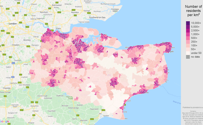 Kent Population Stats In Maps And Graphs