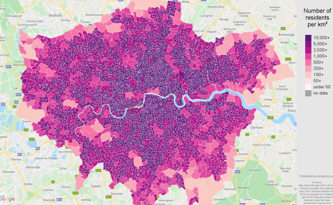 London Population Stats In Maps And Graphs