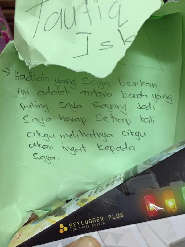 hadiah tulisan anak murid