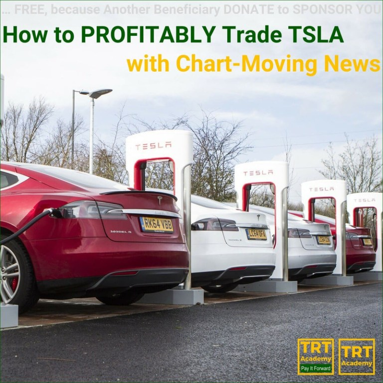 Yes… I Want to Improve My Trading Results – 2018-08 – How to PROFITABLY Trade TSLA – with Chart-Moving News