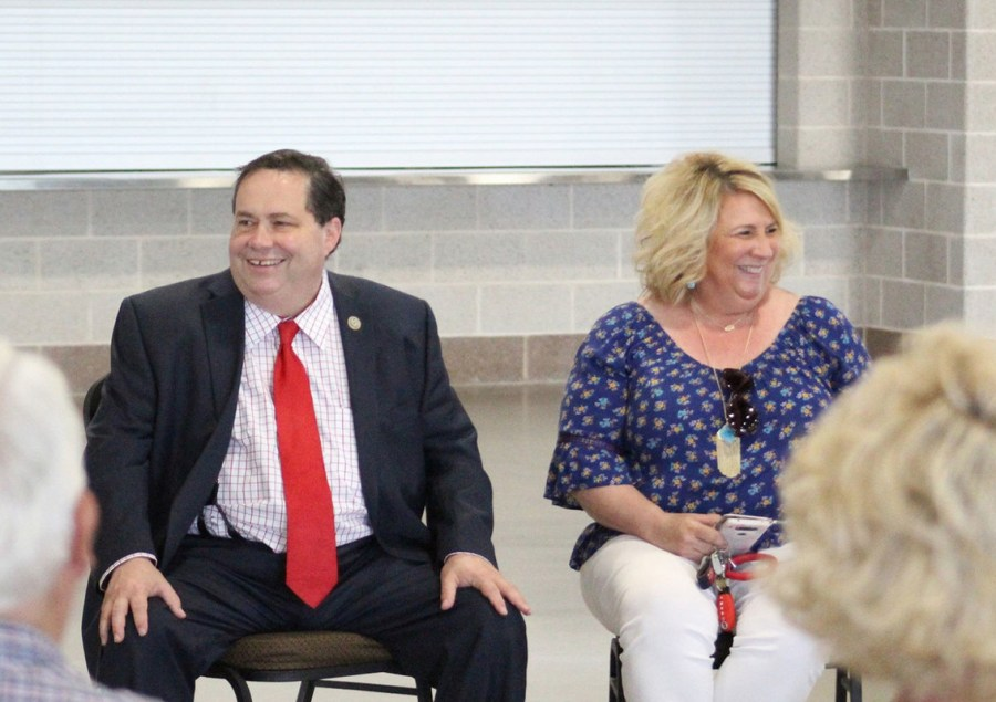 Farenthold with his wife Debbie Farenthold