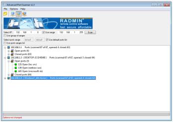 Advanced Portscanner