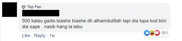 sharnaaz ahmad nafkah rm500