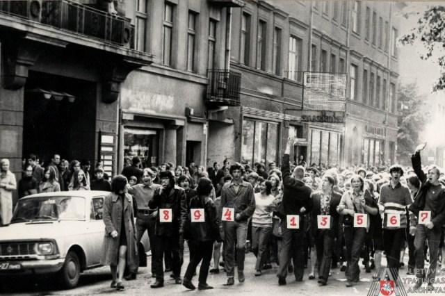 Demonstranten tegen de Sovjets, 1972.