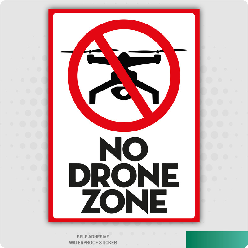 No Drone Zone Prohibited Stickers Health Safety Signs Business Office 210x148mm Ebay