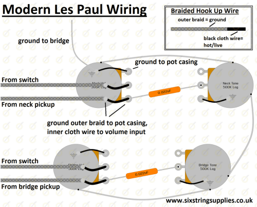 small resolution of six string supplies u2014 modern les paul wiringwiring diagram for modern gibson les paul