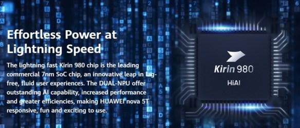 Huawei Nova 5T dijana dengan HiSilicone Kirin 980 (7nm)