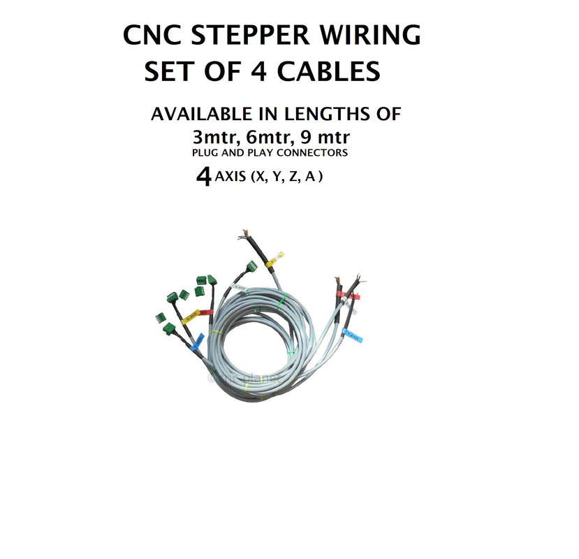 CNC Wiring Nema 23 34 4 Core Shielded Stepper Motor Cable