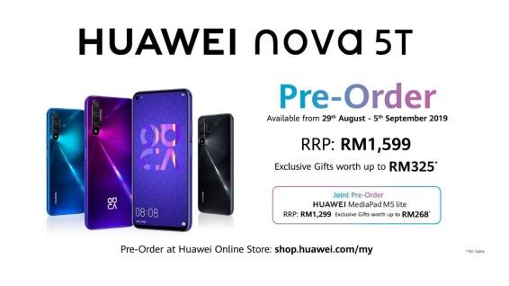 Huawei Nova 5T tempahan awal