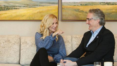 Doug Burgum with his wife Kathryn Helgaas