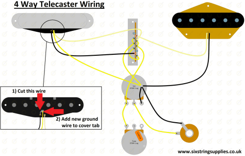 small resolution of 4 way telecaster wiring diagram 4 way tele wiring mod