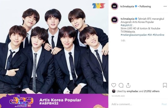 BTS Artis Korea Popular ABPBH 32