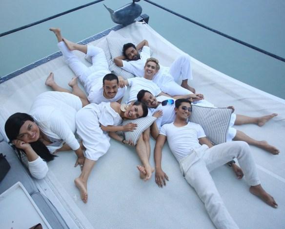 parti bujang rizman atas kapal mewah