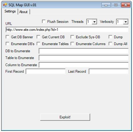 sqlmap GUI v.01