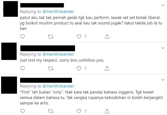 harith iskander kritik kempen buy muslim first