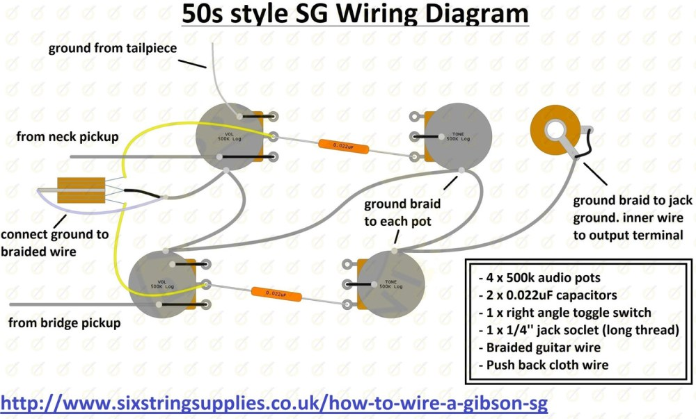 medium resolution of six string supplies sg wiring diagram wiring diagram for gibson sg sg wiring diagram