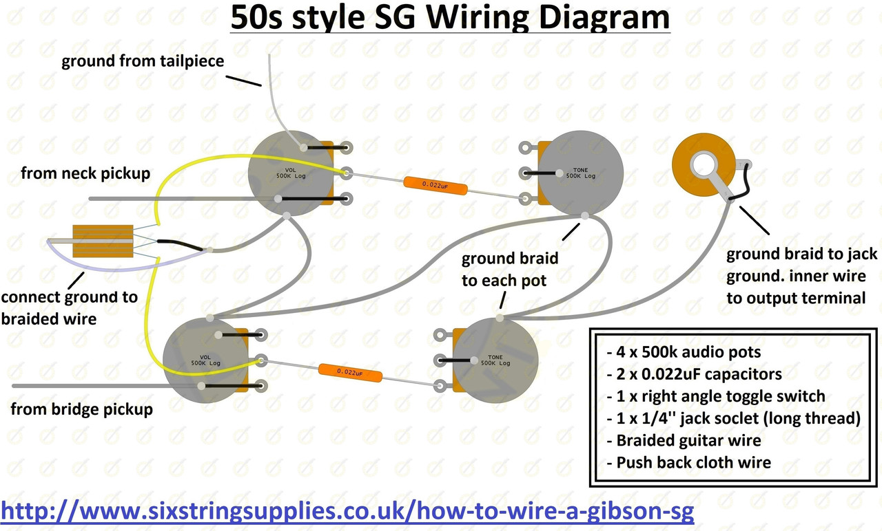 hight resolution of six string supplies sg wiring diagram gibson wiring jack