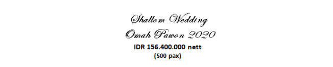 paket pernikahan jakarta lengkap omah pawon murah dengan vendor berpengalaman