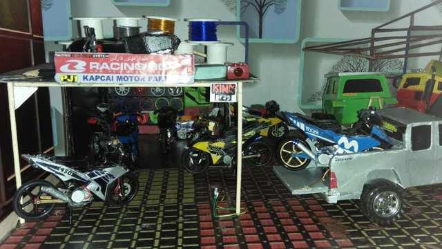 bengekel motorsikal yang dibuat