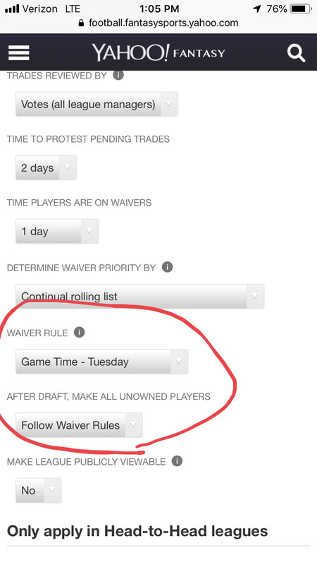 Rules - Waivers and Free Agency